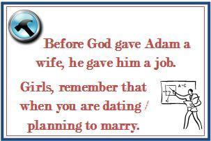 Before God gave Adam a wife