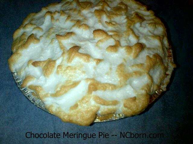 from scratch Chocolate Meringue Pie