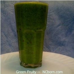 green fruity in glass
