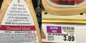 Thousand Island label and price grouped