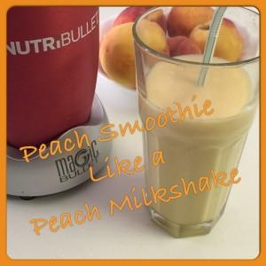 peach smoothie like a shake